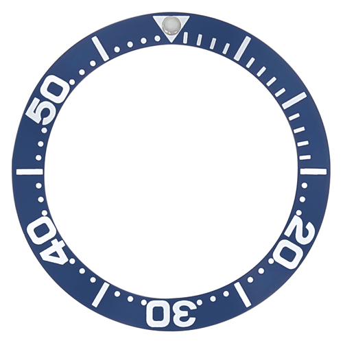 BEZEL INSERT FOR OMEGA WATCH SEAMASTER MIDSIZE 2052.50,2053.80 , 2253.80 BLUE