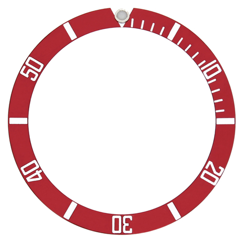 BEZEL INSERT FOR 40MM INVICTA SUBMARINER 8926OB PRO DIVER WATCH RED TOP QUALITY