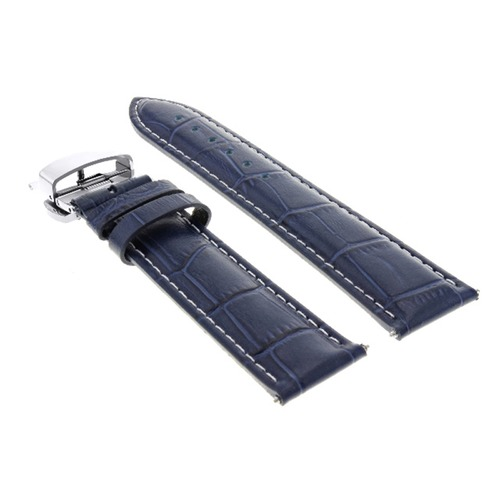 20MM LEATHER WATCH BAND STRAP FOR BAUME MERCIER CAPELAND 65726,10106 BLUE WS