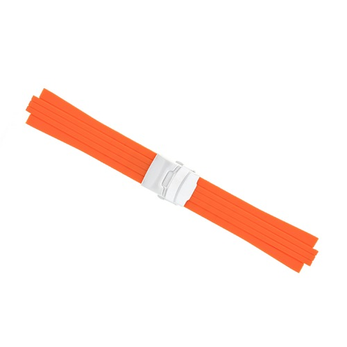 23MM 11MM RUBBER DIVER SILICON STRAP BAND BRACELET FOR ORIS TT2 F1 CHRONO ORANGE