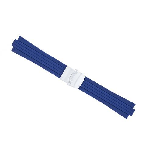 23MM 11MM RUBBER DIVER BAND STRAP BRACELET FOR ORIS TT2 F1 CHRONO WATCH BLUE 44R