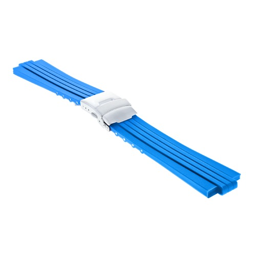 23MM 11MM RUBBER DIVER BAND STRAP BRACELET FOR ORIS TT2 F1 CHRONO WATCH BLUE