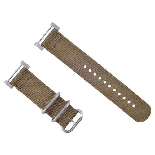 NEW SUUNTO CORE WATCH NYLON DIVER WATCH BAND LUGS ADAPTER SET SAND 3 STEEL RINGS