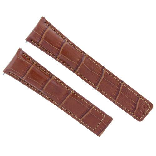 20MM LEATHER WATCH STRAP BAND CLASP FOR TAG HEUER CARRERA MONACO CALIBRE TAN