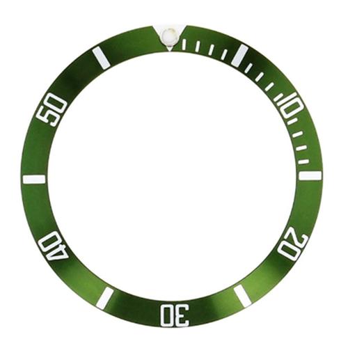 BEZEL INSERT FOR SEIKO SKX031 SKX033 J+K 7S26-0040 SUBMARINER 100M GREEN #1