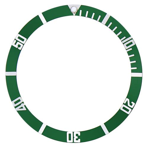 BEZEL INSERT FOR SEIKO 6105, 7002  6306 6309 7S26 7548 8000 WATCH GREEN FLAT