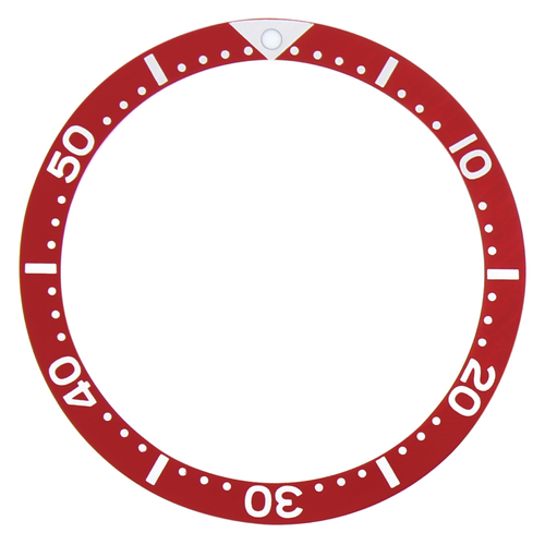 BEZEL INSERT FOR SEIKO MEN'S 7000,7040, SKX007, 4205 ,DIVER AUTOMATIC WATCH RED