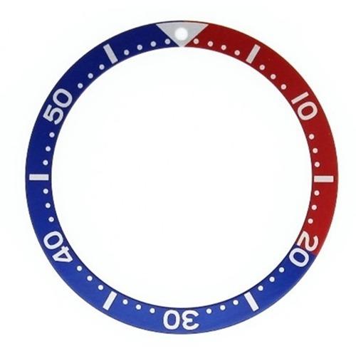 BEZEL INSERT FOR SEIKO 7002 6309 7S26 SKX007K2 7S26-0030 6105-8110 BLUE/RED