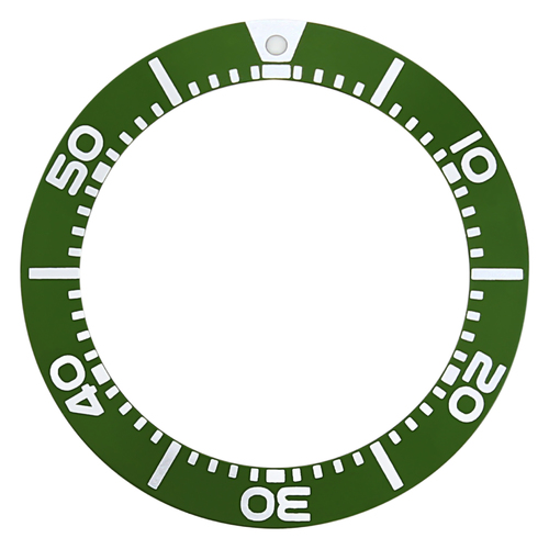 BEZEL INSERT FOR SEIKO DIVER SBCZ011 KINETIC SEIKO 5 SEA URCHIN GREEN