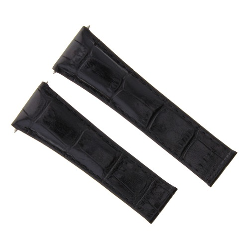 3 LEATHER BAND STRAP FOR ROLEX CLASP DAYTONA 116518 116520 WATCH BLACK SHORT
