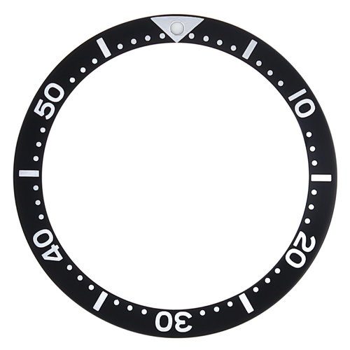REPLACEMENT BEZEL INSERT FOR SEIKO DIVER WATCH BLACK