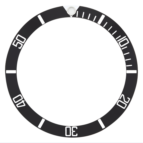 ALUMINUM BEZEL INSERT FOR TAG HEUER 973-006, 973-009 PROFESSIONAL WATCH BLACK