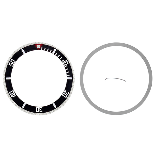 BEZEL & INSERT FOR ROLEX SUBMARINER SAPAHIRE 16808 16613 16818  RED TRIANGLE