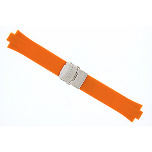 23MM 11MM RUBBER DIVER SILICON STRAP BAND FOR ORIS TT2 F1 CHRONO WATCH  ORANGE