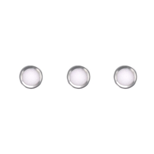 3 PEARL PIP FOR BEZEL INSERT FOR ROLEX SUBMARINER 16800 16808 16610 16613 SILVER