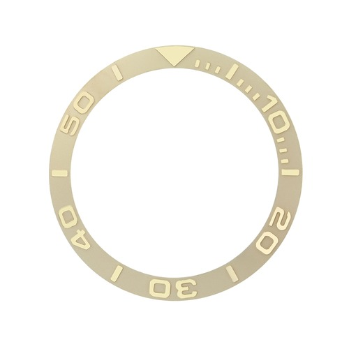 BEZEL INSERT FOR ROLEX YACHTMASTER WATCH 18KY REAL GOLD 16622 16623