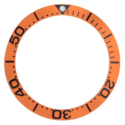 BEZEL INSERT FOR 41MM OMEGA SEAMASTER 300M 2594.52 ORANGE BLACK LARGE NUMBER