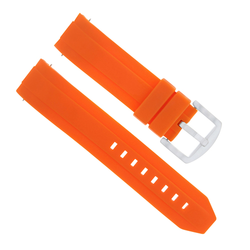 22MM SILICONE RUBBER STRAP BAND FOR SEIKO 200M SKX007K 7S26 SKX009J KINETIC ORANGE
