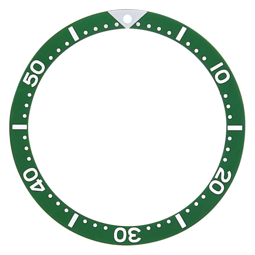 BEZEL INSERT FOR VINTAGE OMEGA 300 # 165.024  3520.50 MARK 40 COSMOS FLAT GREEN