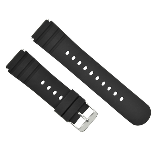 RUBBER WATCH BAND FOR LUMINOX SENTRY  0200 SERIES 0201 0213 2015 WATCH BLACK