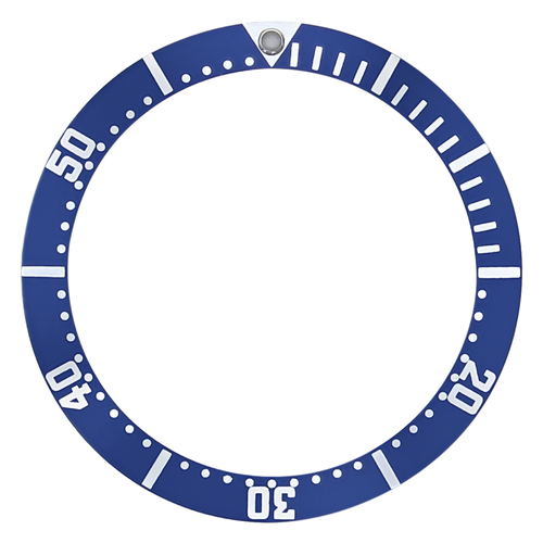 BEZEL INSERT FOR J.SPRING BEB043 AUTOMATIC DIVER WATCH FOR 43MM CASE BLUE