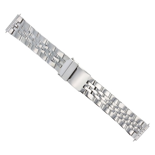22MM HEAVY WATCH BAND FOR BREITLING BENTLEY WATCH 5 LINK SHINY STAINLESS STEEL