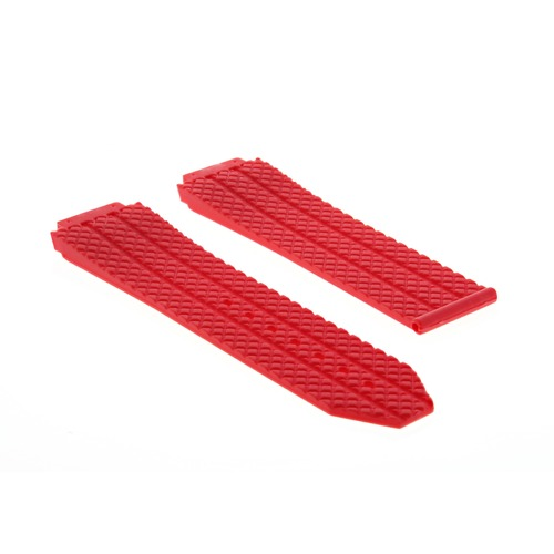 24MM RUBBER WATCH BAND STRAP FOR 44-45MM HUBLOT H BIG BANG WATCH RED TOP QUALITY