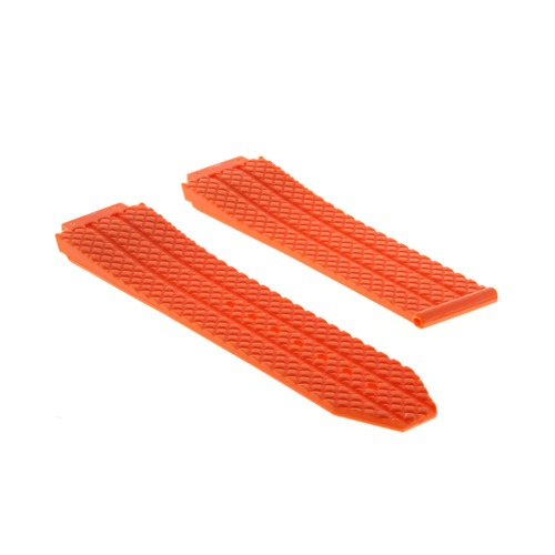 24MM RUBBER WATCH BAND STRAP FOR 44-44.5-45MM HUBLOT H BIG BANG WATCH ORANGE TQ