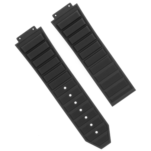 28MM RUBBER STRAP BAND FOR H HUBLOT 48MM BIG BANG KING POWER CERAMIC WATCH BLACK