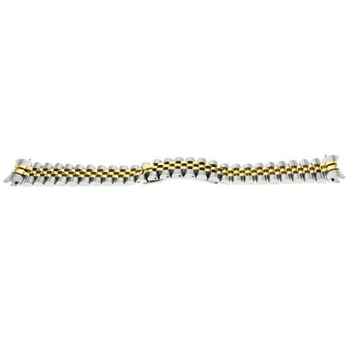 20MM JUBILEE WATCH BAND FOR ROLEX 116200 SOLID LINK HIDDEN CLASP TWO TONE