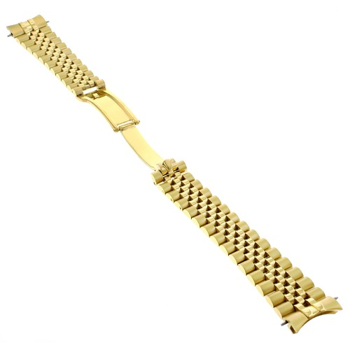 20MM JUBILEE WATCH BAND SOLID LINK FOR ROLEX 116200 SOLID HIDDEN CLASP GOLD