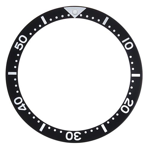 BEZEL INSERT FOR SEIKO 7002,6309,SKX007K2,7S26-0020 DIVER AUTOMATIC BLACK