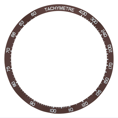 BEZEL INSERT FOR TAG HEUER CARRERA CALIBRE 16 CV2014.FT6014 CHRONOGRAPH BROWN