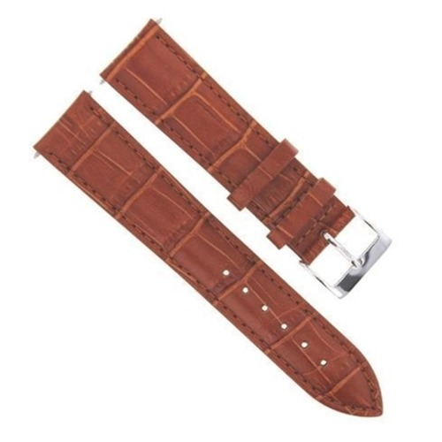 22MM LEATHER WATCH STRAP BAND FOR 45MM TISSOT QUADRATO CHRONO WATCH VALJOUX TAN
