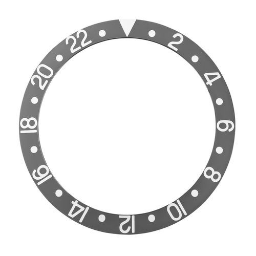 BEZEL INSERT ALUMINUM FOR ROLEX GMT 16700,16710,16713,16718,16760 GREY SILVER