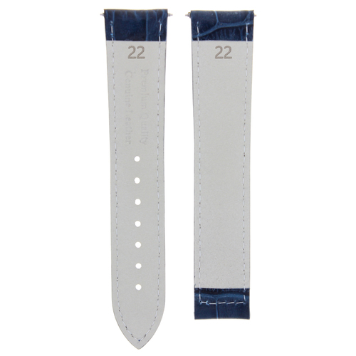 22MM LEATHER STRAP BAND FOR 43MM MAURICE LACROIX PONTOS BLUE ORANGE STITCH