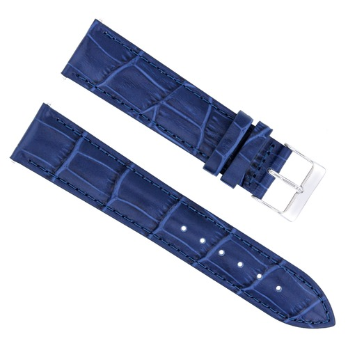 18MM ITALIAN LEATHER WATCH STRAP BAND FOR ROLEX CELLINI DATE WATCH BLUE