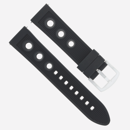 24MM RUBBER DIVER WATCH BAND STRAP FOR U-BOAT WATCH BLACK #9R