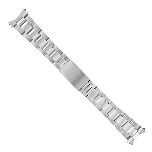 OYSTER WATCH BAND FOR VINTAGE TAPERED 34MM ROLEX TUDOR DATE SHINY MATTE 19MM