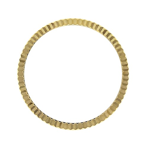 FLUTED BEZEL FOR ROLEX TURN-O-GRAPH THUNDERBIRD 16263 DATEJUST WATCH GOLD PLATE