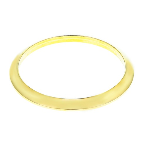 DOMED SMOOTH BEZEL FOR ROLEX DATEJUST TURN-O-GRAPH THUNDERBIRD 16263 116263 GOLD