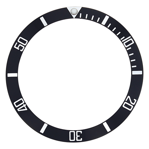 BEZEL INSERT FOR OMEGA SEAMASTER PROFESSIONAL 200M 396.1041 BLACK 37MM X 31MM
