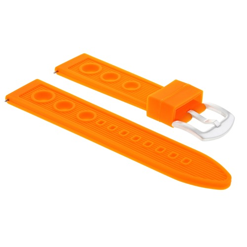 22MM RUBBER RACING DIVER BAND STRAP FOR CITIZEN ECO-DRIVE PRIMO WATCH ORANGE