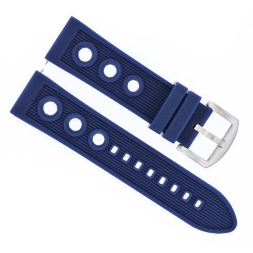 20MM RUBBER DIVER BAND STRAP FOR CITIZEN ECO-DRIVE BL5250-02L WATCH BLUE  TOP QY
