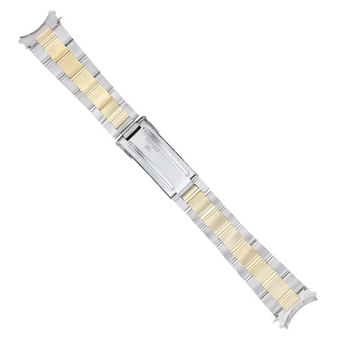 OYSTER WATCH BAND FOR ROLEX SUBMARINER 16800 16810 16808 16613 16618 18K/SS 20MM