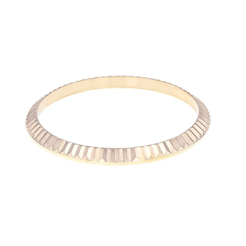 FLUTED BEZEL FOR 31MM ROLEX MIDSIZE 6824 6827 68240 18K REAL ROSE GOLD DATEJUST