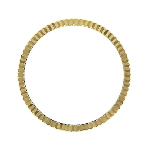 FLUTED BEZEL FOR NEW ROLEX DATEJUST 116000 116200 116233 116234 18KY REAL GOLD