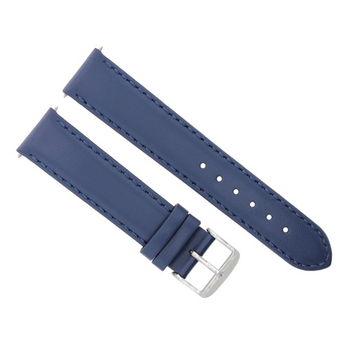 18-19-20-22-24MM LEATHER WATCH BAND SMOOTH FOR BAUME MERCIER BLUE #4