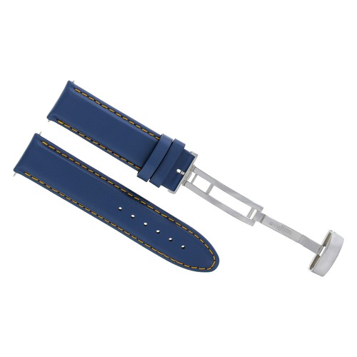 18-19-20-22-24MM LEATHER WATCH BAND STRAP SMOOTH CLASP FOR FRANCK MULLER BLUE