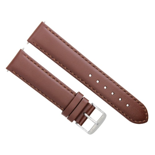 18-19-20-22-24MM LEATHER WATCH BAND STRAP SMOOTH FOR SEIKO L/BROWN #4